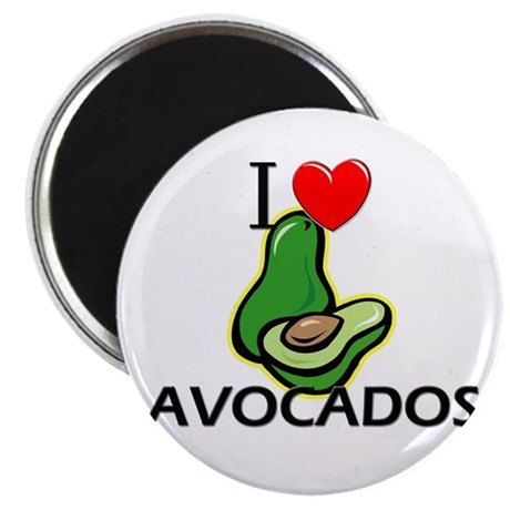 I Love Avocados Magnet