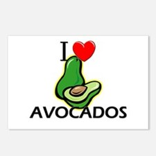 I Love Avocados Postcards (Package of 8)