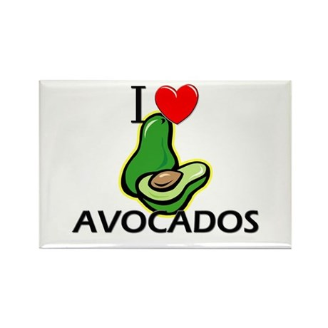 I Love Avocados Rectangle Magnet (10 pack)