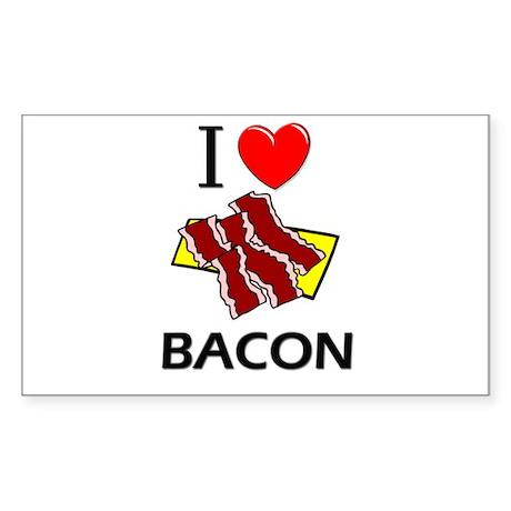 I Love Bacon Rectangle Sticker