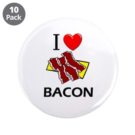 """I Love Bacon 3.5"""" Button (10 pack)"""
