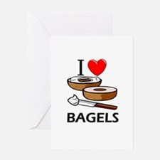 I Love Bagels Greeting Card