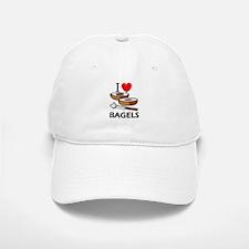 I Love Bagels Baseball Baseball Cap