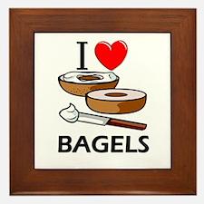 I Love Bagels Framed Tile