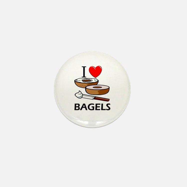 I Love Bagels Mini Button
