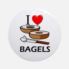 I Love Bagels Ornament (Round)