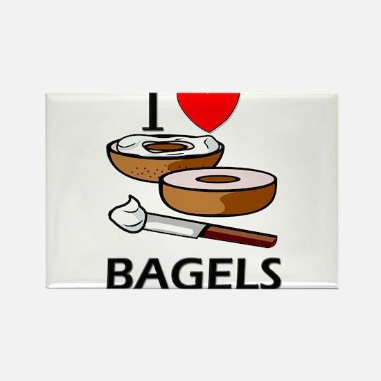I Love Bagels Rectangle Magnet