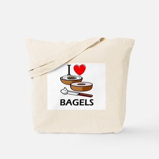 I Love Bagels Tote Bag