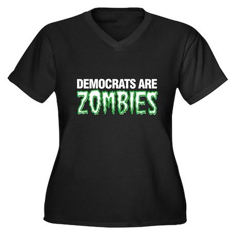 Democrats are Zombies Women's Plus Size V-Neck Dar