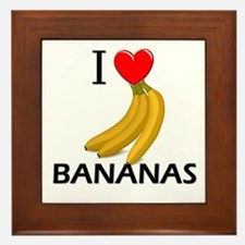 I Love Bananas Framed Tile