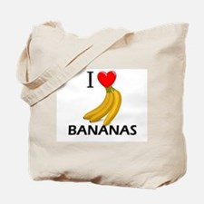 I Love Bananas Tote Bag