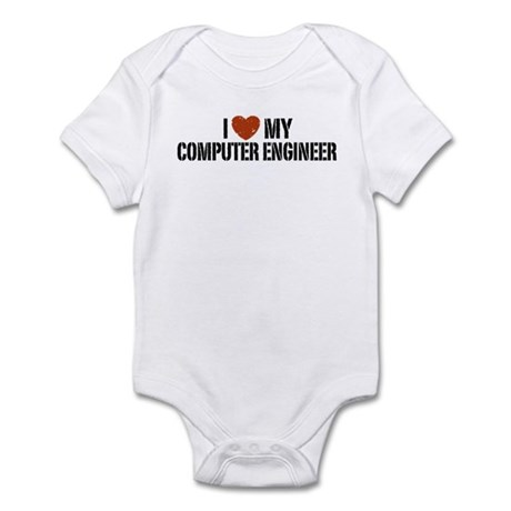 I Love My Computer Engineer Infant Bodysuit