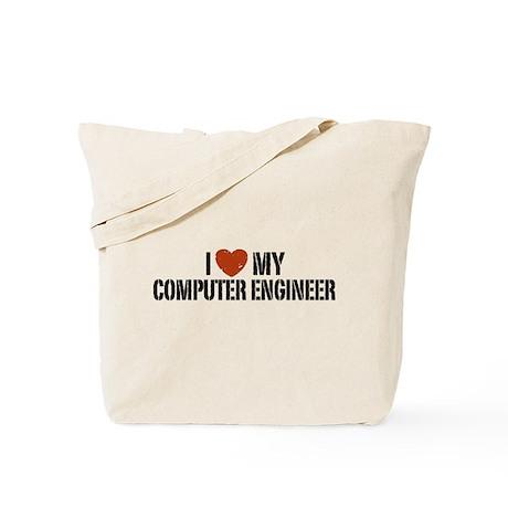 I Love My Computer Engineer Tote Bag
