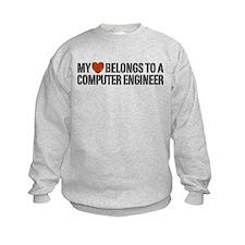My Heart Belongs to a Computer Engineer Sweatshirt