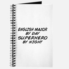 English Major Superhero by Night Journal