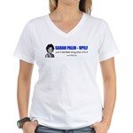 SARAH PALIN (VPILF) Women's V-Neck T-Shirt