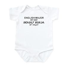 English Major Deadly Ninja by Night Infant Bodysui