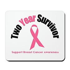2 Year Breast Cancer Survivor Mousepad