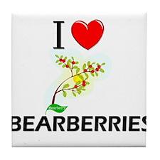 I Love Bearberries Tile Coaster