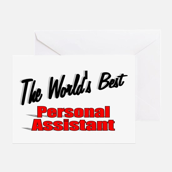 """""""The World's Best Personal Assistant"""" Greeting Car"""
