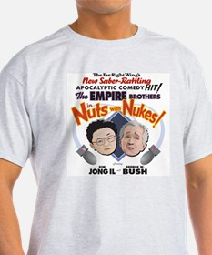 """""""Nuts with Nukes!"""" Ash Grey T-Shirt"""