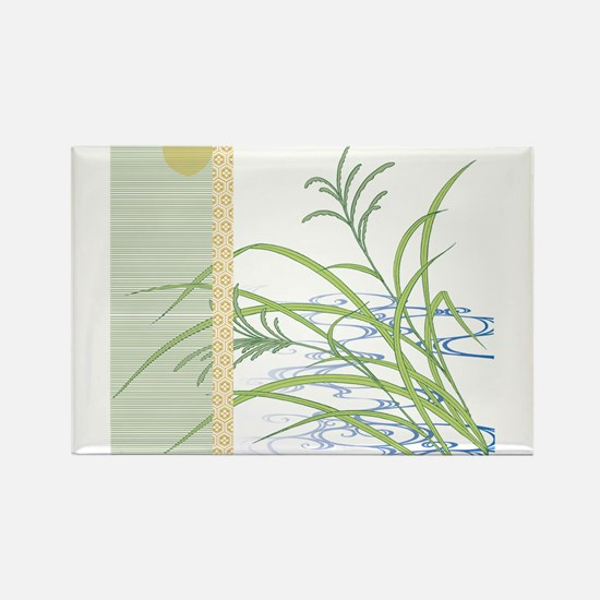 screen w/ grass and stream Rectangle Magnet
