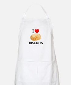 I Love Biscuits BBQ Apron