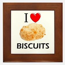 I Love Biscuits Framed Tile
