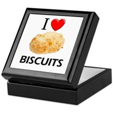I Love Biscuits Keepsake Box