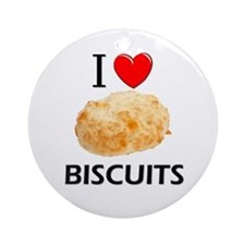 I Love Biscuits Ornament (Round)