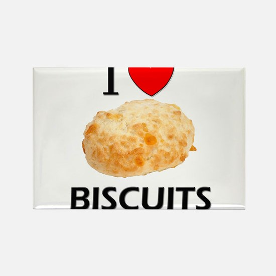 I Love Biscuits Rectangle Magnet