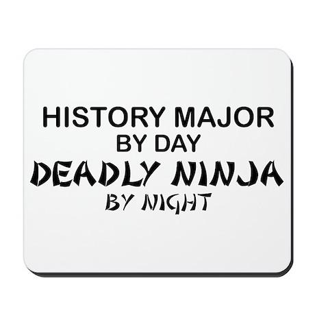 History Major Deadly Ninja by Night Mousepad