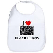 I Love Black Beans Bib