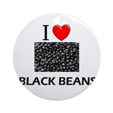 I Love Black Beans Ornament (Round)
