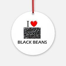 I Love Black Beans Ornament (Round)