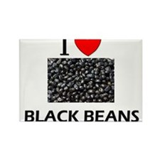 I Love Black Beans Rectangle Magnet