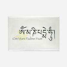 Mantra: Om Mani Padme Hum Rectangle Magnet