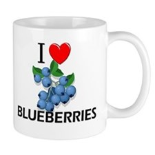 I Love Blueberries Mug