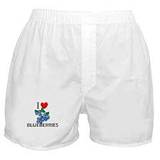 I Love Blueberries Boxer Shorts