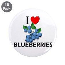 "I Love Blueberries 3.5"" Button (10 pack)"