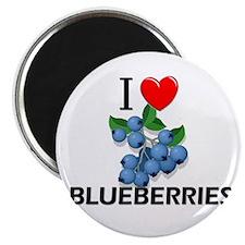I Love Blueberries Magnet