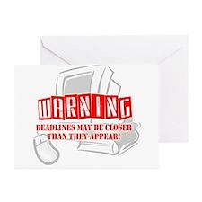 """WARNING: Deadlines..."" Greeting Cards (Pk of 10)"