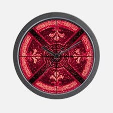 Abstract 6 (Red) Wall Clock