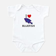 I Love Bluefish Infant Bodysuit