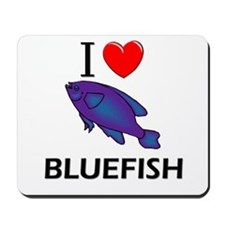 I Love Bluefish Mousepad