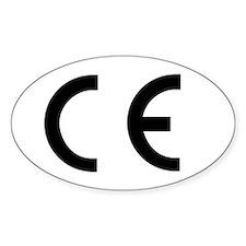 CE Mark Oval Decal