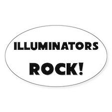 Illuminators ROCK Oval Sticker
