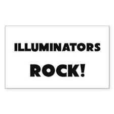 Illuminators ROCK Rectangle Sticker