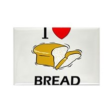 I Love Bread Rectangle Magnet