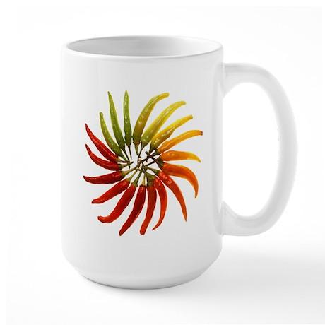 Chili Pepper Wheel Large Mug